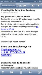 Mail från Haglöfs